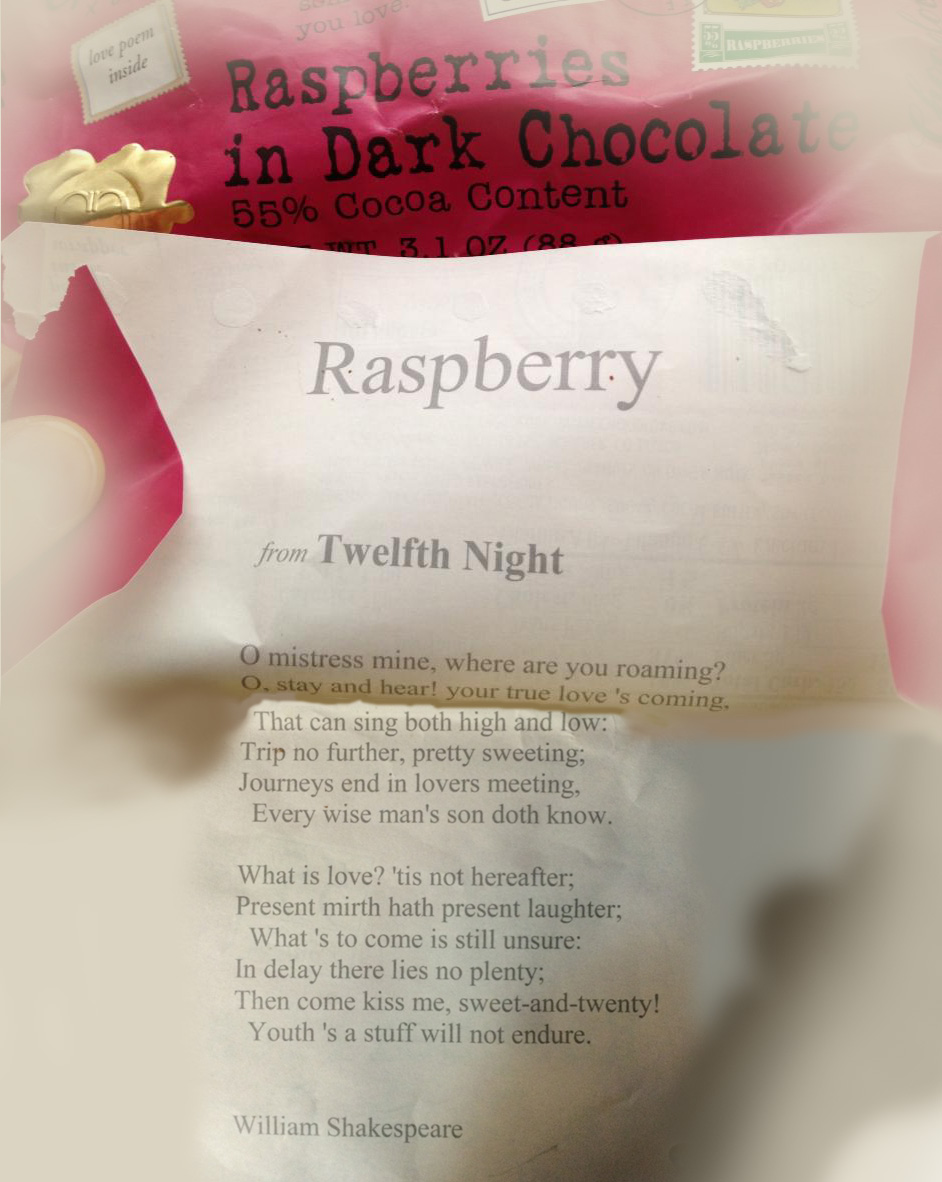 Chocolove Twelfth Night Verse