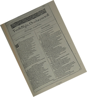 Twelfth Night First Folio